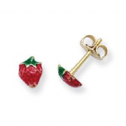 9ct Gold Strawberry Stud Earrings